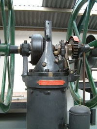 Close up of Crossley Atmospheric engine