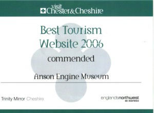Commended Certificate for Tourism Website of the Year